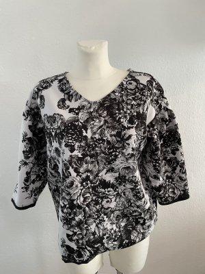 Sisley Bluse gr S schwarz weiß Shirt Sommer