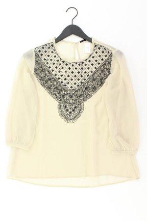 Sisley Bluse Größe M 3/4 Ärmel creme aus Polyester