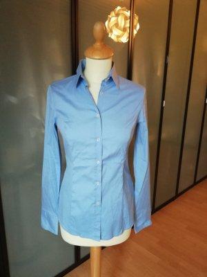 Sisley Bluse S wie neu hellblau slim fit stretch