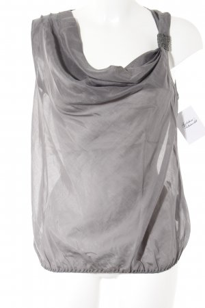 Sisley Blouse topje antraciet casual uitstraling