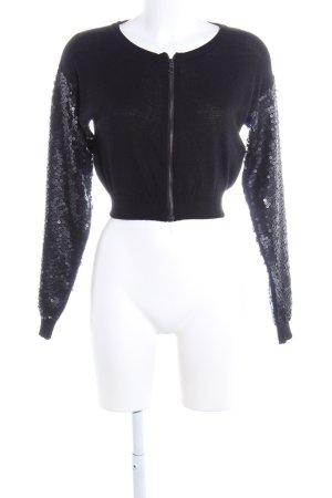 Sisley Bolero schwarz extravaganter Stil
