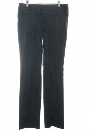 Sisley Bundfaltenhose schwarz-weiß Business-Look