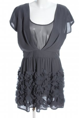 Sisley Chiffon jurk lichtgrijs elegant