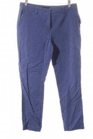 Sisley Chinohose weiß-blau abstraktes Muster Business-Look