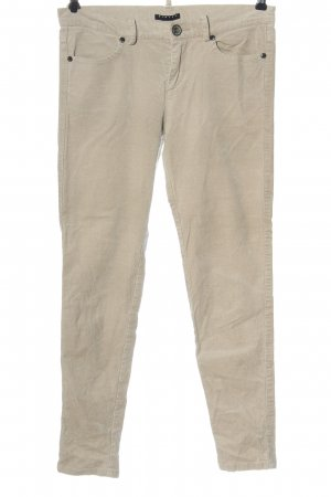 Sisley Corduroy Trousers natural white striped pattern casual look
