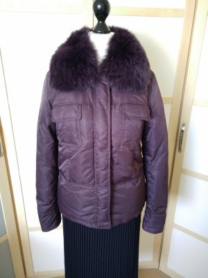 Sisley Down Jacket dark violet mixture fibre