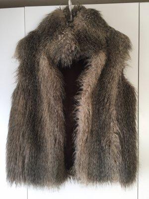 Sisley Fake Fur Vest multicolored