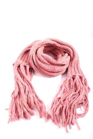 Sisley Bufanda de flecos rosa look casual
