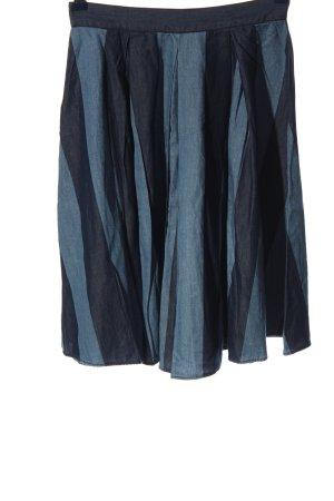 Sisley Glockenrock blau Streifenmuster Casual-Look