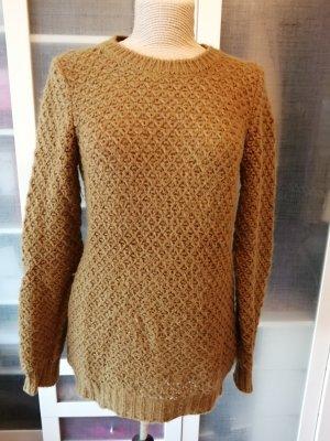 Sisley Grobstrick Pullover Senf Gr. L top
