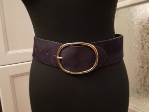 Sisley Cinturón de cuero lila-violeta oscuro