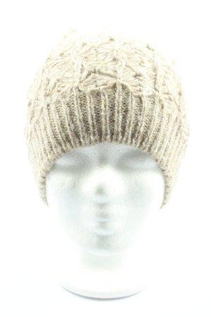 Sisley Bonnet en crochet blanc cassé torsades style décontracté