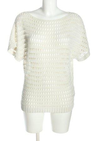 Sisley Gehaakte trui wit casual uitstraling