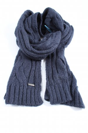 Sisley Crochet Scarf blue cable stitch casual look