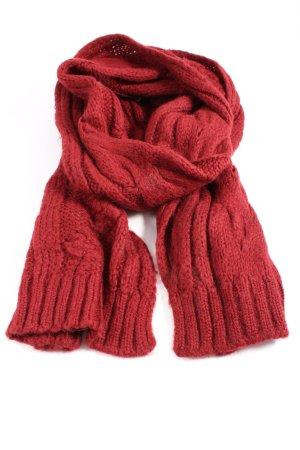 Sisley Bufanda de ganchillo rojo look casual