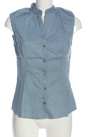 Sisley Hemd-Bluse blau Casual-Look
