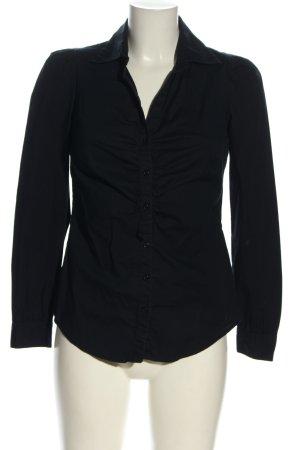Sisley Hemd-Bluse schwarz Casual-Look