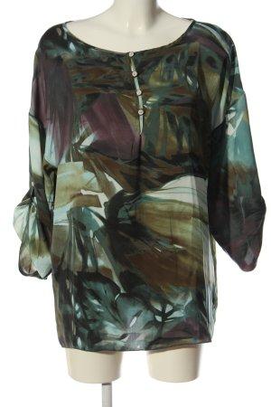 Sisley Blusa-camisa estampado con diseño abstracto look casual