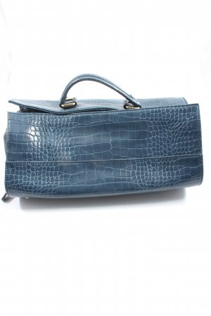 Sisley Henkeltasche blau Animalmuster Business-Look