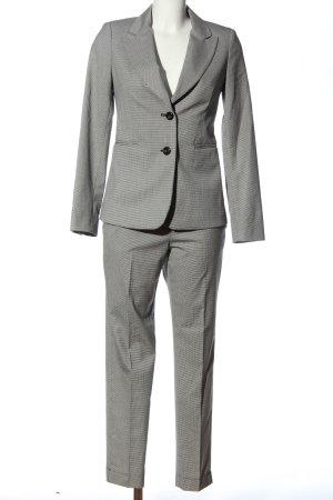 Sisley Tailleur-pantalon blanc-noir motif graphique style décontracté