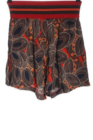 Sisley Hot Pants abstraktes Muster Casual-Look
