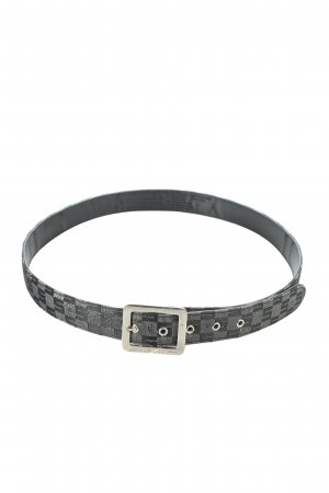 Sisley Hip Belt black-silver-colored check pattern casual look