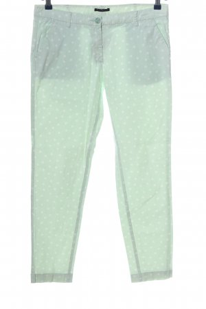 Sisley Low-Rise Trousers turquoise-white allover print casual look
