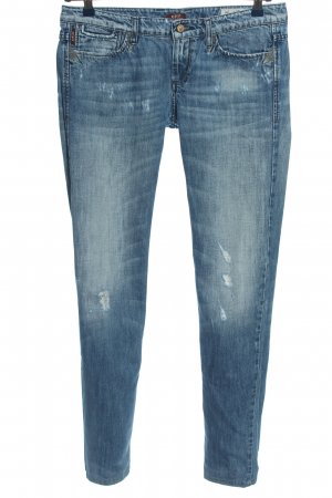 Sisley Jeans vita bassa blu stile casual