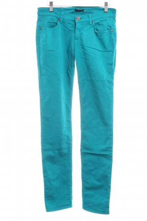 Sisley Jeans vita bassa turchese stile casual