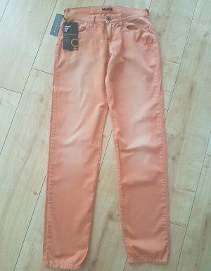 Sisley Jeans Modell Copenhagen Slim Fit Regular Waist Orange Washed W 28 L 32 oder S 36 NEU