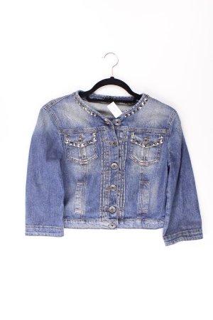 Sisley Denim Jacket blue-neon blue-dark blue-azure cotton