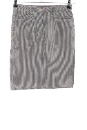 Sisley Jupe en jeans gris clair motif rayé style décontracté