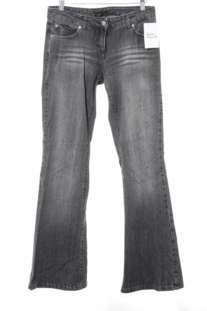 Sisley Jeansschlaghose grau Washed-Optik