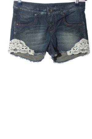 Sisley Jeansshorts blau-weiß Casual-Look