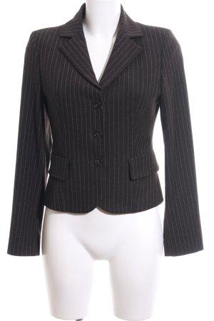 Sisley Jerseyblazer schwarz-hellgrau Streifenmuster Business-Look