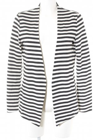 Sisley Jerseyblazer weiß-schwarz Streifenmuster Casual-Look