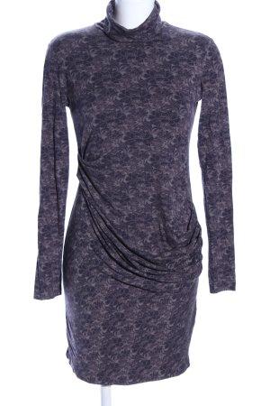 Sisley Vestido de tela de jersey azul-lila estampado floral estilo «business»