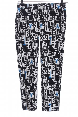 Sisley Peg Top Trousers black-white allover print casual look