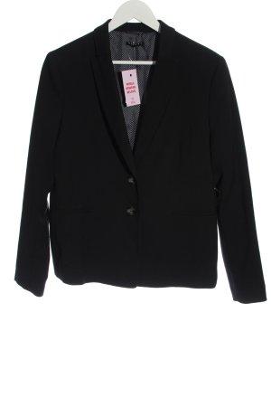 Sisley Klassischer Blazer zwart casual uitstraling