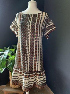 Sisley Vestido estilo flounce multicolor Satén