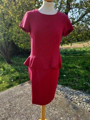 Sisley Robe à manches courtes rouge foncé
