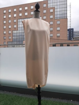 Sisley Kleid Gr. XS Beige Schleife Rückenausschnitt Neuwertig