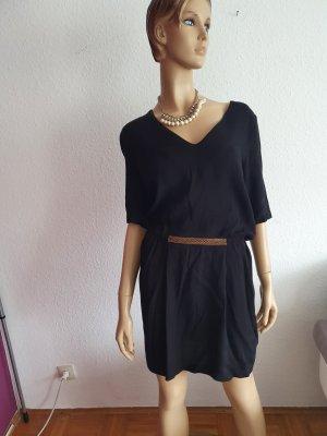 Sisley Sukienka z krótkim rękawem czarny
