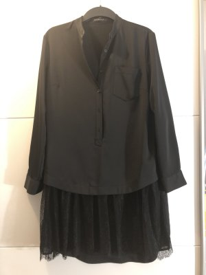 Hemdblousejurk zwart Polyester