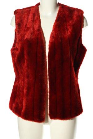 Sisley Kunstfellweste rot Casual-Look