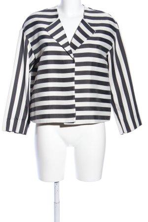 Sisley Kurz-Blazer schwarz-weiß Streifenmuster Casual-Look