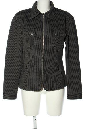 Sisley Kurz-Blazer schwarz Streifenmuster Casual-Look