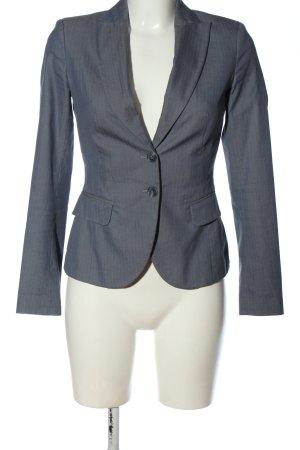 Sisley Kurz-Blazer blau Streifenmuster Business-Look