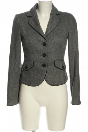 Sisley Kurz-Blazer silberfarben Business-Look