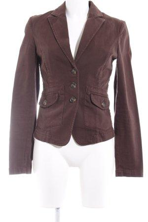 Sisley Kurz-Blazer braun Business-Look